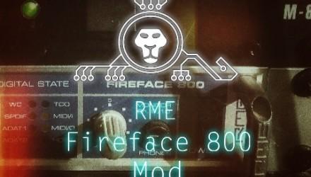 Rme Fireface 800 mod